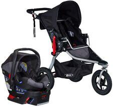 BOB Rambler Travel System Jogging Stroller Jogger w/ B Safe 35 Car Seat Black