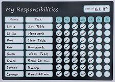 Magnetic Responsibility Chart Dry Erase Board Marker Pen Eraser Tip Chore Reward