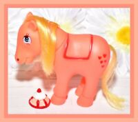 ❤️Vtg My Little Pony Phony Fake Fakie Clone Donkey Applejack Orange Red Hearts❤️
