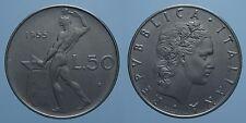 REPUBBLICA ITALIANA 50 LIRE 1955 VULCANO FDC