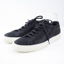 $565 Common Projects Woman Achilles Black Calf Hair Sneakers Sz 40 Made in Italy