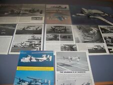 VINTAGE..GRUMMAN E-2C HAWKEYE..HISTORY/PHOTOS/3-VIEWS ..RARE! (626E)