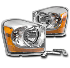 2004-2005 DODGE DURANGO CRYSTAL STYLE CHROME HEADLIGHTS LAMPS+LED SIGNAL DRL KIT