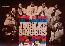 JUBILEE SINGERS GOSPEL 1965 German A1 Concert poster Superb design