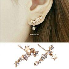 1Pair Elegant Crystal Rhinestone Ear Stud Earrings Fashion Women Lady Jewelry AU