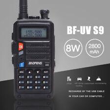 BaoFeng Uv-S9 Powerful 8W Dual Band Walkie Talkie Long Range Two Way Radio Black