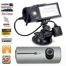 "2.7"" Vehicle Car DVR Camera Video Recorder Cam G-Sensor GPS Dual Len Camera"