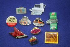 Lot of 10 Pins - Yokohama, Skoda Felicia, Iaa, Talkline, Soviet Railways etc