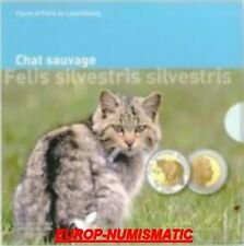 "LUXEMBOURG 2015  5 EURO BE/PP/PROOF"" CHAT SAUVAGE "" SUPERBE En stock"