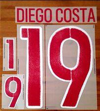 España euro 2016 Away Camiseta Diego Costa #19 conjunto de número de nombre oficial dekographics