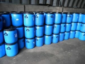 1 x 50ltr Blue Plastic Barrel, Screw Top, Storage Barrel with Lid, Feed Bins