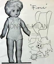 """50's Knitting Pattern DOLLY DOLLS CLOTHES, VEST,KNICKERS,PANTS,UNDERWEAR 10-16"""""""