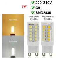 10X 5W G9 LED Glühbirne Warmweiß Kaltweiß 2835 SMD Mais Birne Sparlampe 220-240V