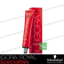 Schwarzkopf Professional IGORA ROYAL Permanent Colour Hair Dye 60ml Specialities