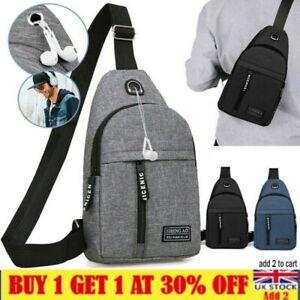 Unisex Chest Bag Pack Outdoor Travel Sport Shoulder Sling Backpack Cross Body UK
