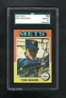 1975 TOPPS #370 TOM SEAVER HOF NEW YORK METS SGC 8.5 NM/MT++SHARP CARD!