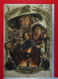 Lord of the Rings Fellowship of Ring 2001 Hobbit Movie Poster 24X36 New     LRFR