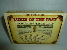 Rivers Edge 2005 Lures of the Past Fishing Lure 2 Decks Playing Cards  Lot Z-155