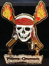 Disney Pirates Of The Caribbean ~ Dead Man's Chest ~ Skull Logo Dangle Pin