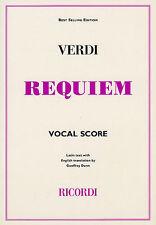 Verdi Requiem Ricordi, Vocal Score - Same Day P+P