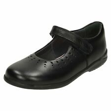 Girls Startrite Leather/Patent Hook & Loop School Shoes Mary Jane