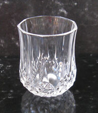 Vintage Longchamp Diamond Cut Crystal Shot Glass or Toothpick Holder, France