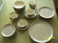 "PICKARD 1950's Mid-Century ""GOSSAMER"" DINNERWARE SET; From GUMP'S, Estate Set"