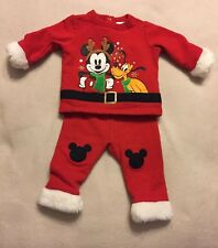 Disney Store Disney Baby Mickey Mouse Christmas Outfit 2 Piece 6-9mos