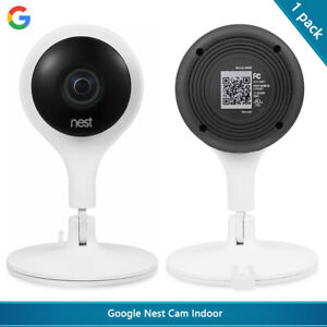 Google Nest Cam Indoor - Wired Indoor Camera for Home Security - White