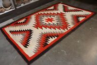 "Antique Navajo Rug - Blanket -   Large Ganado - c. 1920 106"" x 60"""