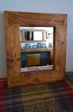 wood mirror, eco-friendly, 37.6 x 33.3cm, handmade in Somerset UK, custom made,