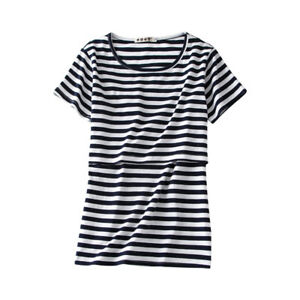 Central Chic Breast Feeding Nursing Maternity Striped Top Tees top Quality UK