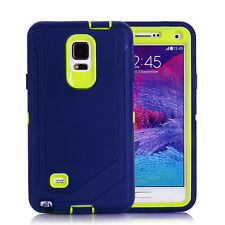 For Samsung Galaxy Note 4 Defender Outer Case Protective Cover w/Clip Navy Green