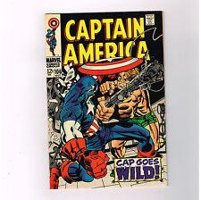 "CAPTAIN AMERICA #106 Great Silver Age tale! ""Cap goes wild!"" GRADE 8.5"