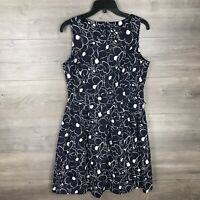 Tommy Hilfiger Women's Size 10 Sleeveless Fit Flare Dress Navy Blue Floral Print