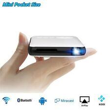 WiFi Mini Mobile Cinema DLP Projector w/ TV Box for IOS Android Phone PC BT4.0