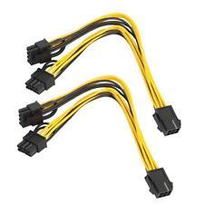 2x PCI-E 6pin Female to Dual 8pin (6+2pin) Male Video Card GPU Power Cable 20cm