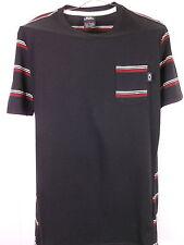 OAKLEY T-SHIRT Men's Size Small Cotton+Polyester Black Pocket Tee EUC