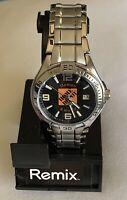 Fossil Remix PR3043 Home Depot Silver Tone S.Steel Japan Movt Men's Watch 40 mm