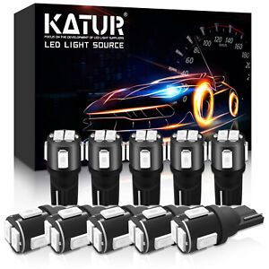 10 Veilleuses LED W5W T10 Canbus ANTI ERREUR Rouge XENON 5630 6 SMD voiture moto