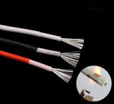 5M resistente al calor 250 ℃ Fibra Vidrio Silicona Alambre Trenzado Cable de cobre estañado