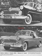 Publicité Ford versailles & Trianon Danielle darieux François Périer ad 1954 -3j