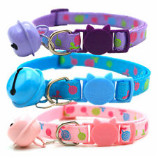 Cat Dog Collar With Bell Safety Buckle Adjustable Small Pet Printing Collar FS