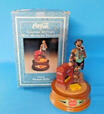 """Limited Edition Coca Cola Emmett Kelly Musical Figurine """"At The Red Cooler"""" Wbox"""