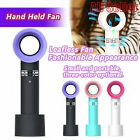 Portable Bladeless Hand Held Cooler Mini USB No Leaf Handy Fan 360 Degrees #T