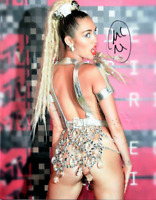 Miley Cyrus signed 8 X 10 photo ~~~Really Hot Photo signed in person w/COA~~~