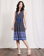 Boden Ellie Dress 10r Blue Td172 Mm 02