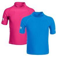 Trespass Crew Kids Swim Top Over Head Pink Blue for Boys Girls