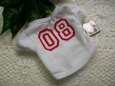 White SPORTS JERSEY Shirt XS 08 Extra Small baseball football basketball track