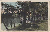 Indiana Ind Postcard c1910 ELKHART McNAUGHTON PARK Scene People